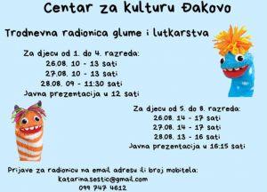 Trodnevna radionica glume i lutkarstva u Centru za kulturu u Đakovu